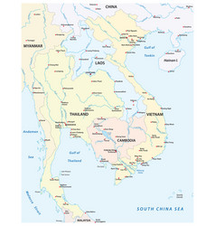 Map states southeast asia vector