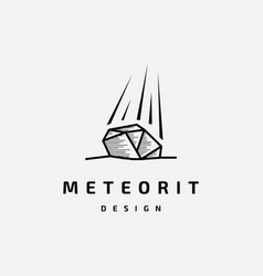 meteorite logo design vector image