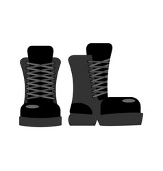 Military footwear soldier special shoes army boot vector