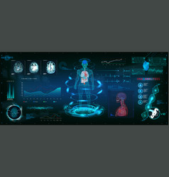 Mrt futuristic scanning in hud style design vector