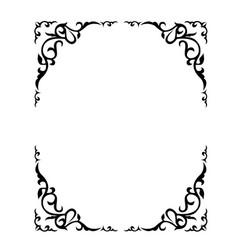 Ornate floral frame with refined vignette vector
