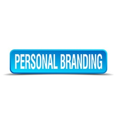 personal branding blue 3d realistic square vector image