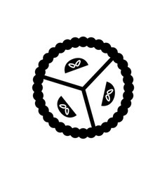 pie sweet dessert icon black vector image