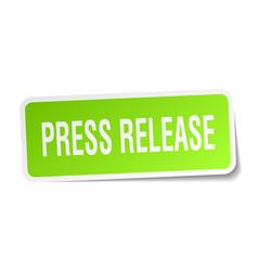 Press release square sticker on white vector