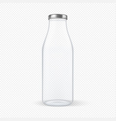realistic transparent closed empty glass vector image