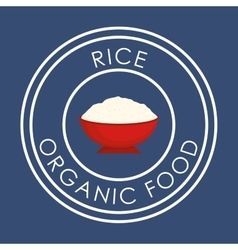 Rice icon design vector