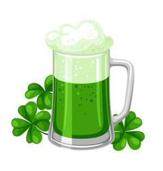 saint patricks day ale or beer in vector image