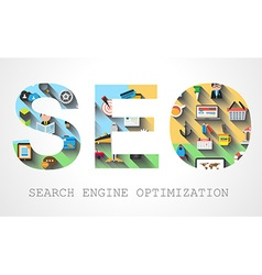 SEO Search engine optimization concept vector image