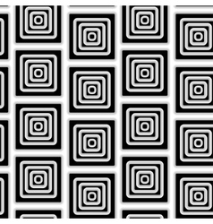 The pattern of black and white squares vector image