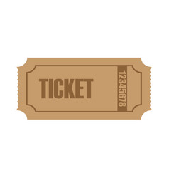 ticket logo icon design template vector image
