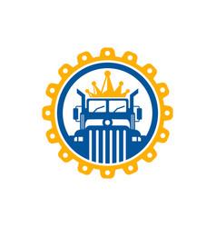 transport truck king logo vector image