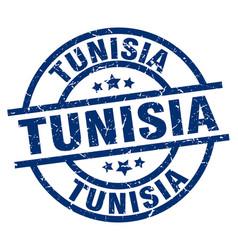 Tunisia blue round grunge stamp vector