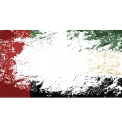 United Arab Emirates flag Grunge background vector image