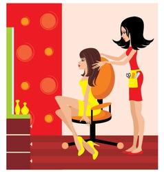 Woman in a beauty salon vector