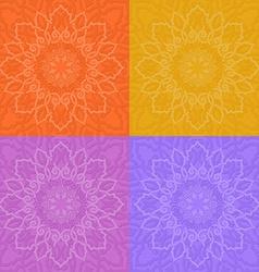Yellow garden roses vector