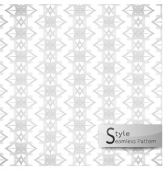abstract seamless pattern floral mesh white vector image vector image