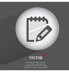Flat modern web button with long shadow and space vector image
