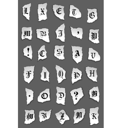 Old letters on torned paper vector image vector image