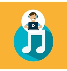 support center with music vector image