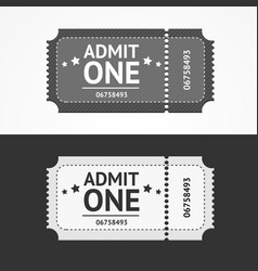 ticket icon blank admit set vector image vector image