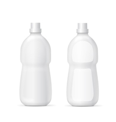 White plastic bottle for liquid cleaning agent vector image