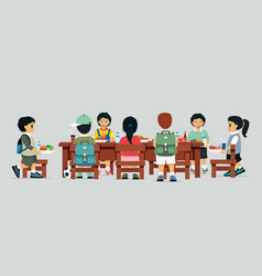 canteen table vector image vector image