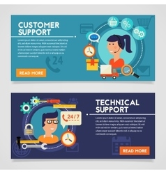 Customer and Technical Support Concept vector image
