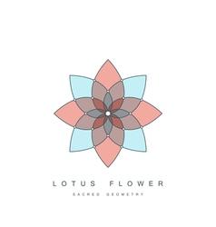 lotus flower sacred geometry vector image vector image