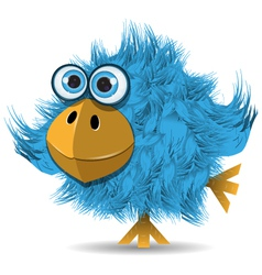 very funny blue bird vector image vector image