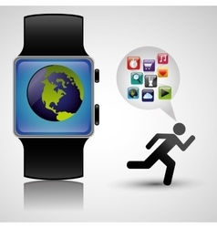Wearable technology tracker fitness health vector