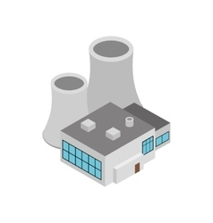 Factory building icon isometric 3d style vector image