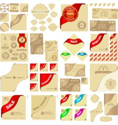 great collection of sale sign vector image