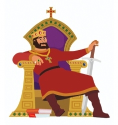 happy king vector image vector image