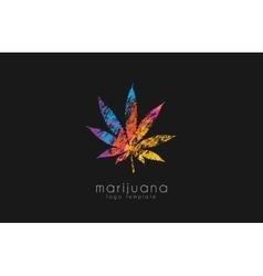 marijuana leaf logo color marijuana logo drug vector image