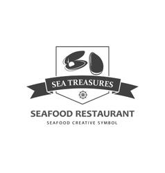Seafood logo template vector image