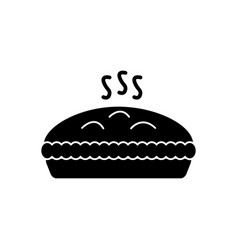 pie with meat icon black vector image