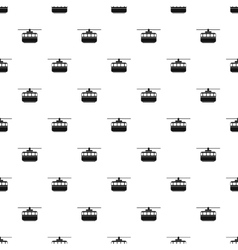 Ski lift pattern simple style vector