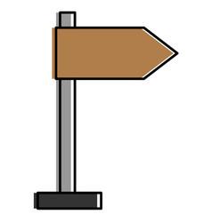 wooden arrow guide label vector image vector image