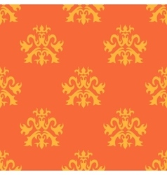 Abstract seamless ornate pattern in yellow and vector