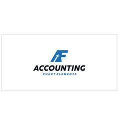 Af accounting financial logo vector