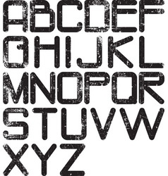 alphabet grunge vector image vector image