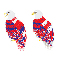 blue red and white bald eagle vector image