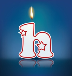 Candle letter h with flame vector