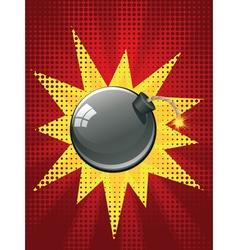Cartoon Black Bomb3 vector image