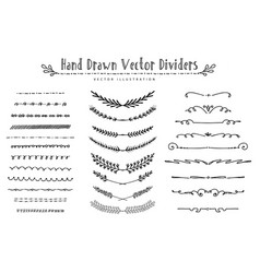 collection vintage dividers vector image
