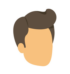 Colorful silhouette of man faceless with pompadour vector
