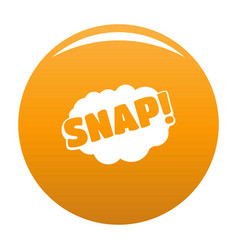 Comic boom snap icon orange vector