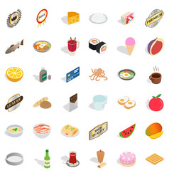 cooking icons set isometric style vector image