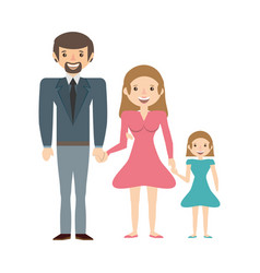 couples family daughter vector image