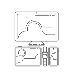 cross-platform icons cross platforming devices vector image